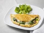 Omelette de espinacas y parmesano