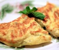 Receta de Omelette de jamón, queso y tomate