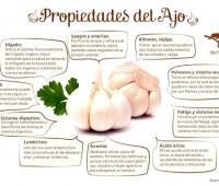 Comer ajo es sano: Infografía con las propiedades del ajo