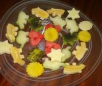 Ensalada de frutas divertida para niños