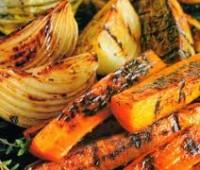 Verduras grilladas con vinagreta de especias