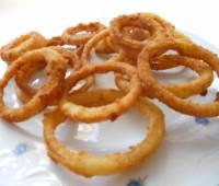 Aros de cebollas fritos