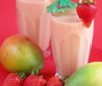 Receta de Batido de fresas y mango