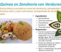 Quinoa blanca + Jugo de zanahoria: Información gráfica de la receta de quinoa