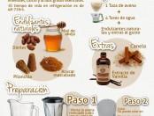 Leche de avena: Infografía con la preparación de esta leche vegetal