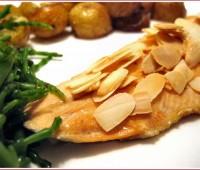 Receta de Trucha con salsa de almendras