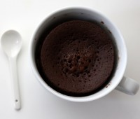 Receta: Mini torta de chocolate en taza