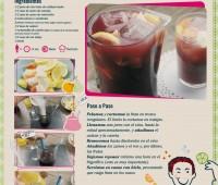 Infografía con la receta de una Sangría