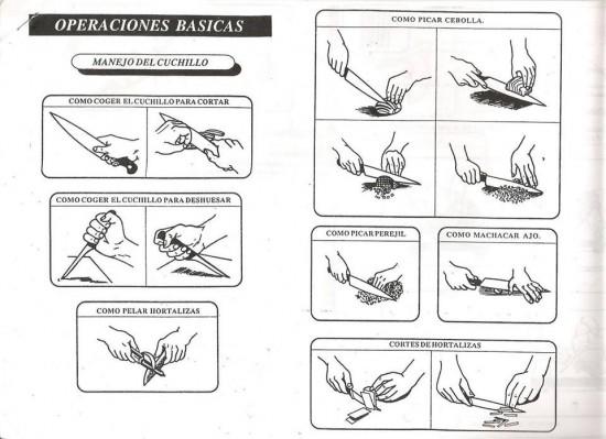 Manejo del cuchillo im gen con operaciones b sicas for Manual operaciones basicas de cocina