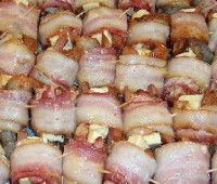 Receta: Arrolladitos de bacon y pollo