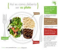 Proporciones de la comida en el plato
