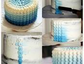 Tutorial decorado torta en azul y blanco
