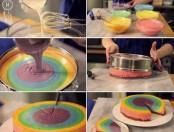 Tutorial de cómo realizar una torta multicolor