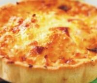 Tarta individual de jamón y queso rápida