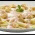 Gratin de pasta con salsa rosada