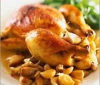Receta: Pollo al ajo