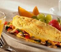 Rapido y delicioso omelette de frutas