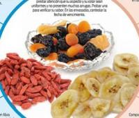 Frutas secas y sus acciones:: Infografías