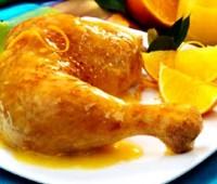Pollo salteado con salsa de naranjas