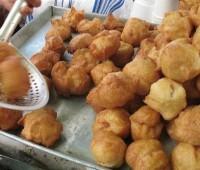 Receta: Buñuelos rellenos de pera y mango