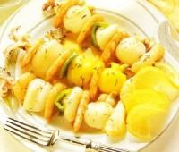 Receta: Brochetas marinadas de pescado