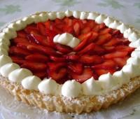 Receta: Tarta de Frutillas con Crema