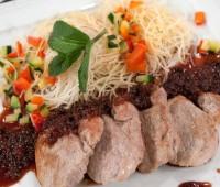 Receta sin glúten: Fideos de arroz con cerdo
