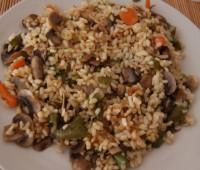 Receta: Arroz con verduras y champiñones