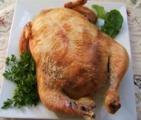 Pollo relleno con palmitos