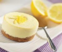 Postre nevado de duraznos y limón