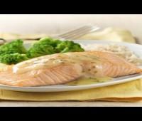Receta: Salmón con salsa de olivas