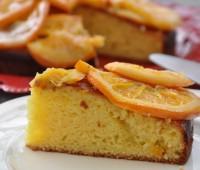 Receta de exquisita torta de naranja