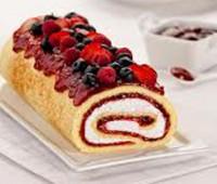 Receta: Arrollado con queso crema y frutos rojos