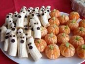 Cómo comer fruta divertida en Halloween (Fantasmas y Calabazas)
