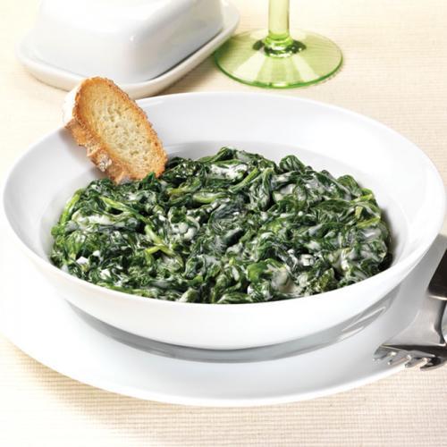 Receta de espinacas a la crema cocinachic for Cocinar espinacas