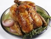 Pollo asado con manteca de hierbas