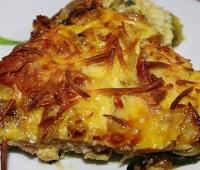 Tarta de calabacín, zapallito y cebolla