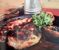 Recetas: Pollo con mostaza y miel a la parrilla