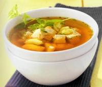 Sabrosa Sopa de pescado con tofu