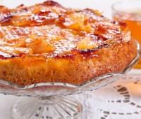 Receta: Torta invertida de mango