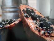 Receta: Batata asada con hongos