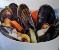 Recetas: Mejillones cocidos con verduras