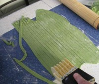 Exquisitos fideos verdes para San Patricio