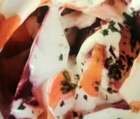Ensalada cremosa de remolacha y zanahoria para festejar el día de la mujer