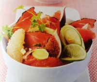 Recetas: Jamón ahumado con frutas