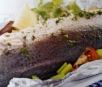 Recetas: Trucha asalmonada al horno