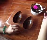 Riquísimos huevos de pascua marmolados