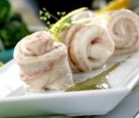 Riquísimos rollitos de lenguado marinado