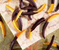 Cáscaras de naranjas bañadas en chocolate