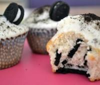 Recetas dulces para cumpleaños: Cupcakes de galletitas oreo